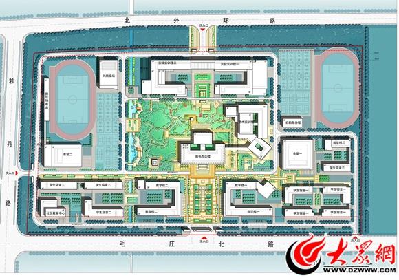 菏泽市职教园区规划设计平面图