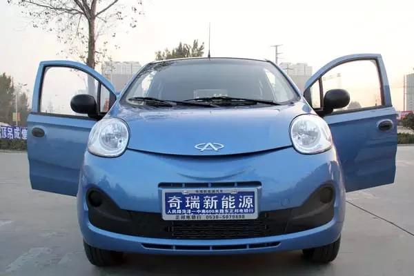 颜色为冰雪蓝的奇瑞eQ新能源汽车-黄金周购奇瑞新能源汽车送银条啦图片
