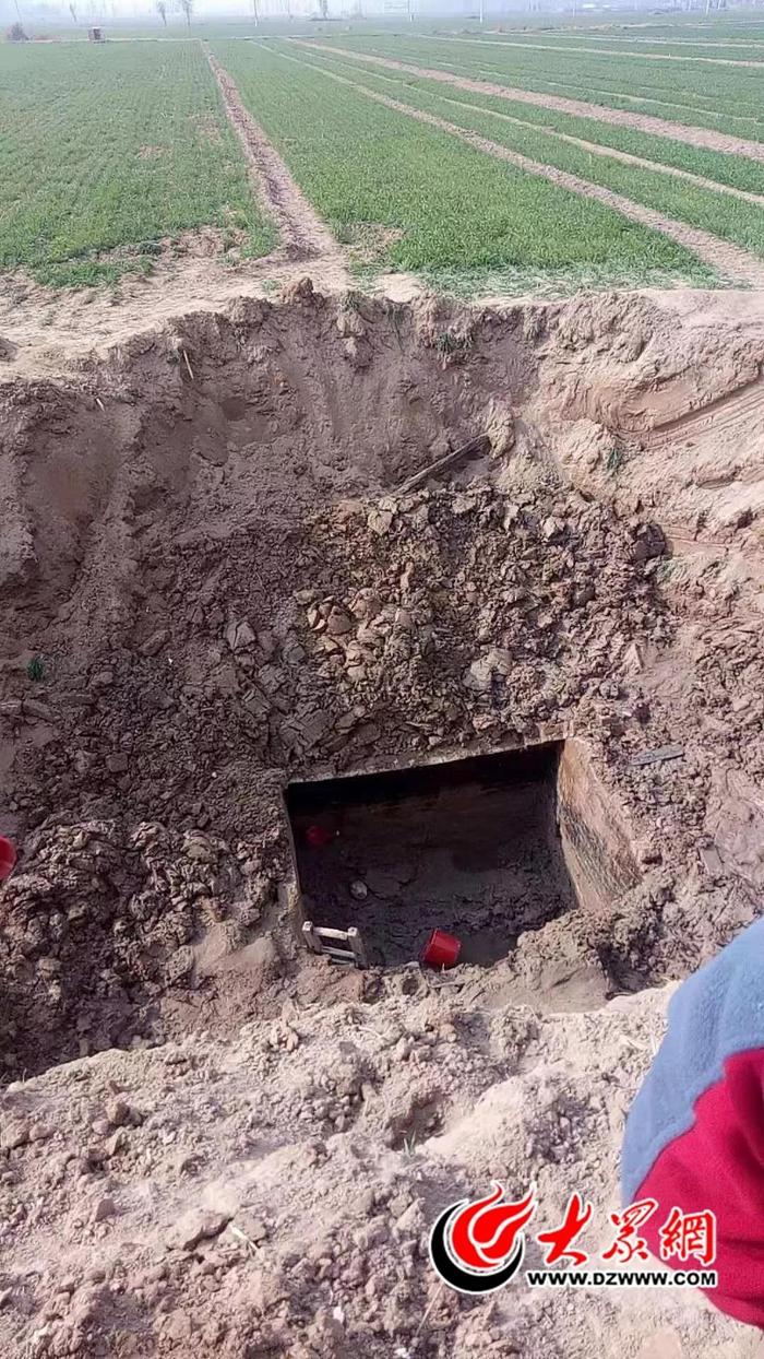 菏澤東明發現一座疑似清代古墓