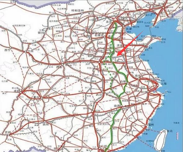 京九高铁西线规划图