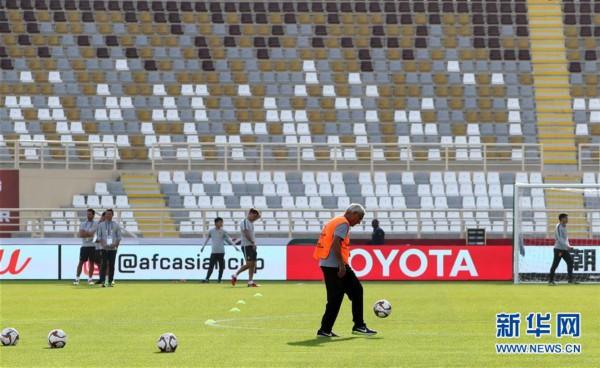 (亚洲杯)(9)足球——中国队进行赛前训练