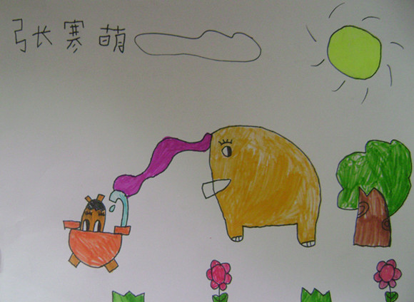 节约用水简笔画彩图-童心绘画倡节水