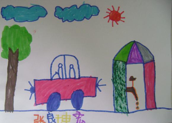 节约用水儿童绘画_儿童绘画图片大全